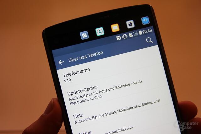 LG V10 mit zweiten Bildschirm
