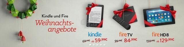 Fire TV, Fire HD8 und Kindle bei Amazon reduziert
