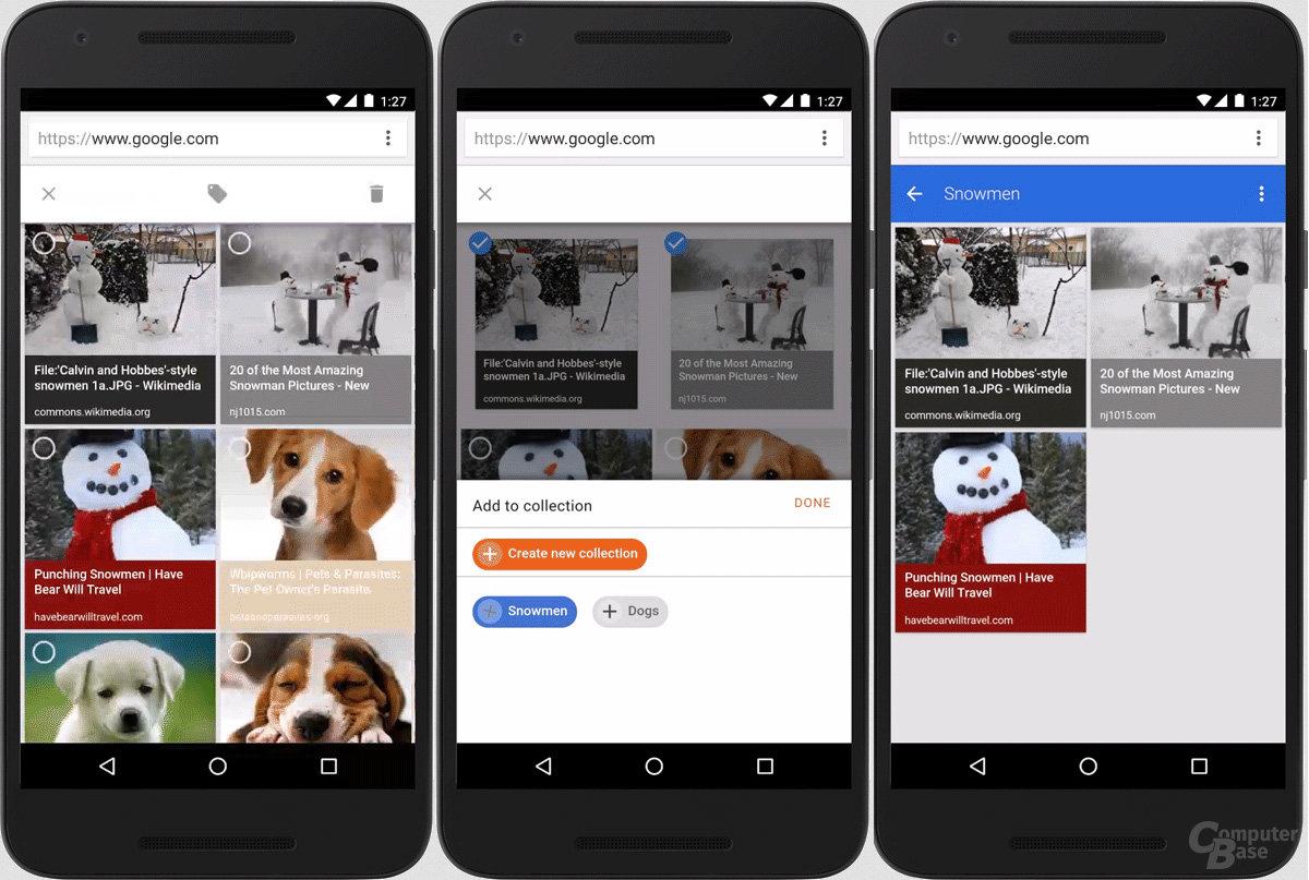 Bessere Bilderorganisation in der mobilen Bildersuche bei Google