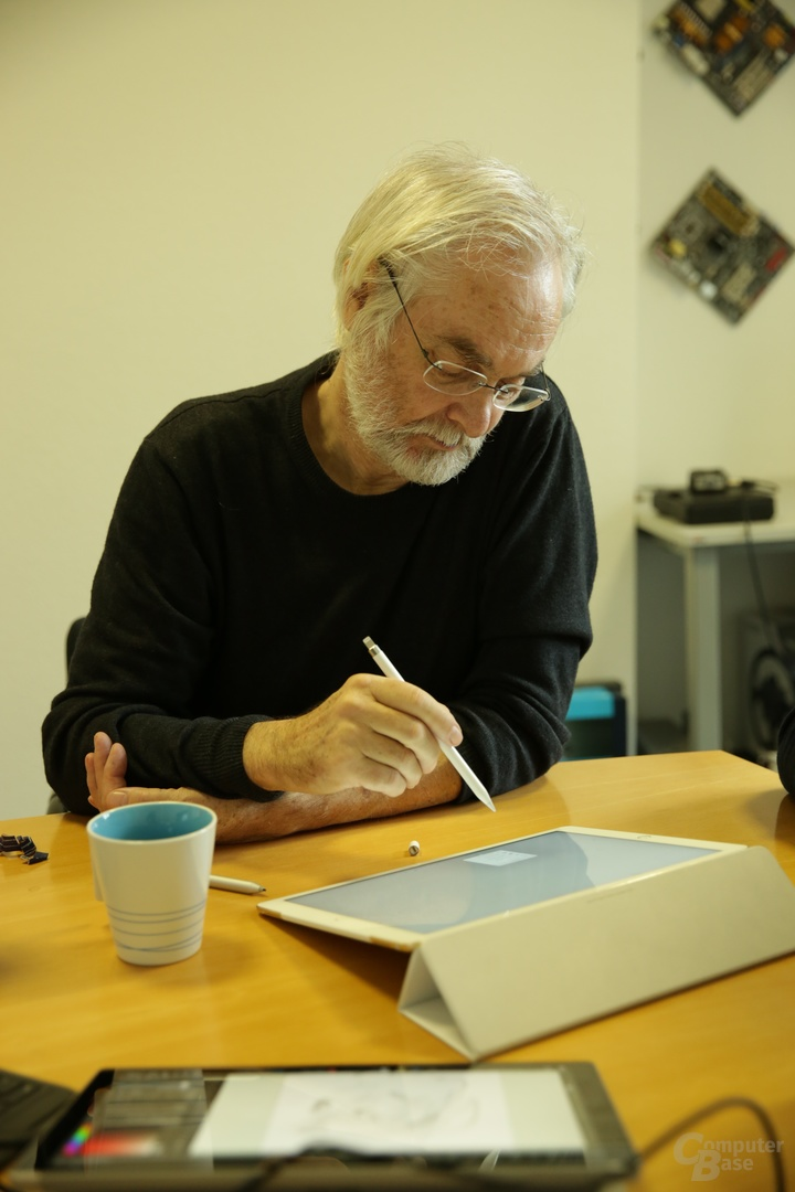 Stuttmann in der Redaktion von ComputerBase