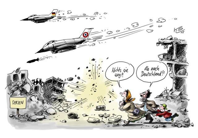 Klaus Stuttmann zum Einsatz in Syrien
