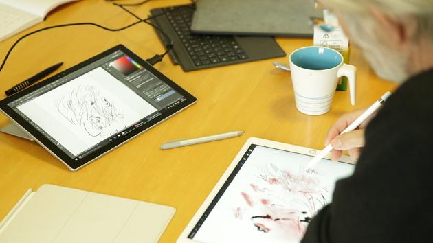 digitales zeichnen klaus stuttmann trifft ipad pro und surface pro 4 computerbase. Black Bedroom Furniture Sets. Home Design Ideas
