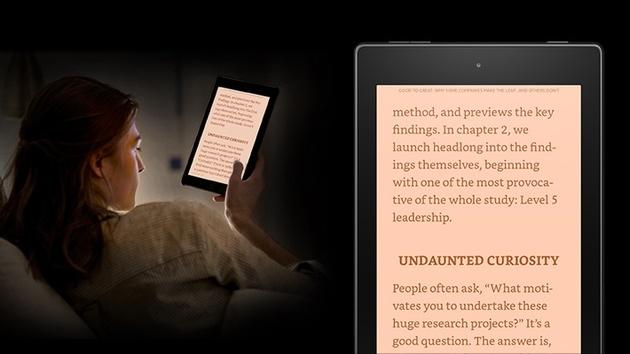 Amazon: Fire-OS-5-Update sorgt für entspanntes Lesen im Dunkeln