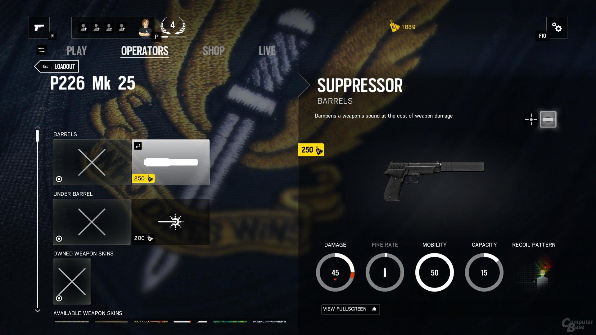 Waffen können mit Upgrades ausgestattet werden