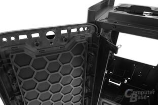 BitFenix Shogun – Durch Waben verstärktes Mesh fungiert als Staubfilter