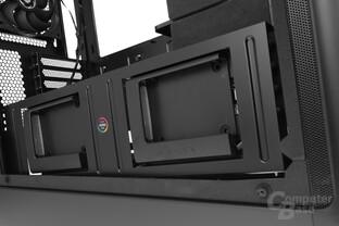 """BitFenix Shogun – Zwei beleuchtete 2,5""""-Festplattenaufnahmen"""