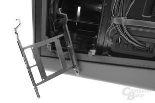 """BitFenix Shogun – 3,5""""-Festplattenschiene im Detail"""