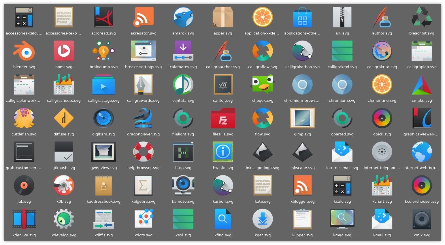 Neue Breeze Icons