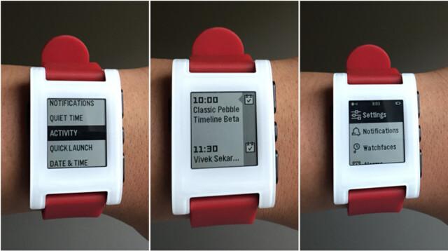 Pebble Timeline auf der Pebble Classic