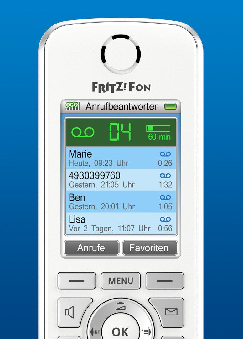 AVM Fritz!OS 6.50 – Neuer Startbildschirm Fritz!Fon