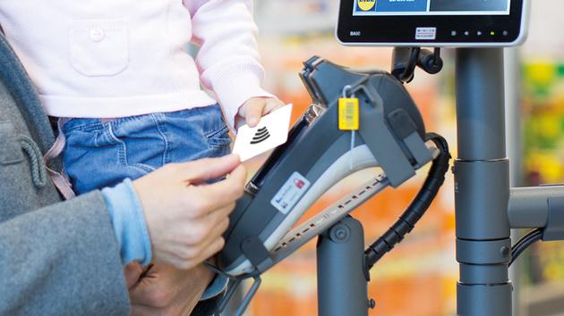 Lidl: Kontaktloses Zahlen mit Karte und NFC-Smartphone möglich