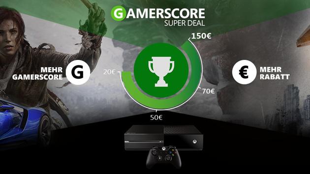 Gamerscore Super Deal: Bis zu 150 Euro Rabatt auf Xbox-One-Kauf
