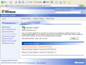 Windows XP SP2 Windows Update v5