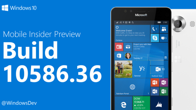 Windows 10 Mobile: Build 10586.36 ist das letzte Update 2015