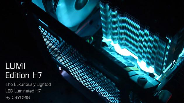 H7 Lumi Edition: Cryorig arbeitet an erstem Kühler mit RGB-Beleuchtung