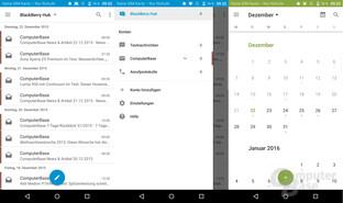 BlackBerry Hub und Kalender