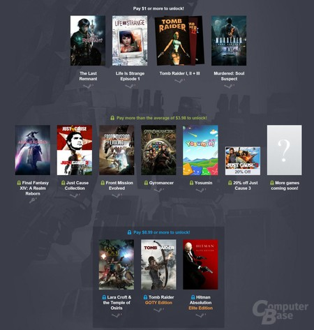 Das neue Square-Enix-Bundle wird erst ab Stufe 2 attraktiv