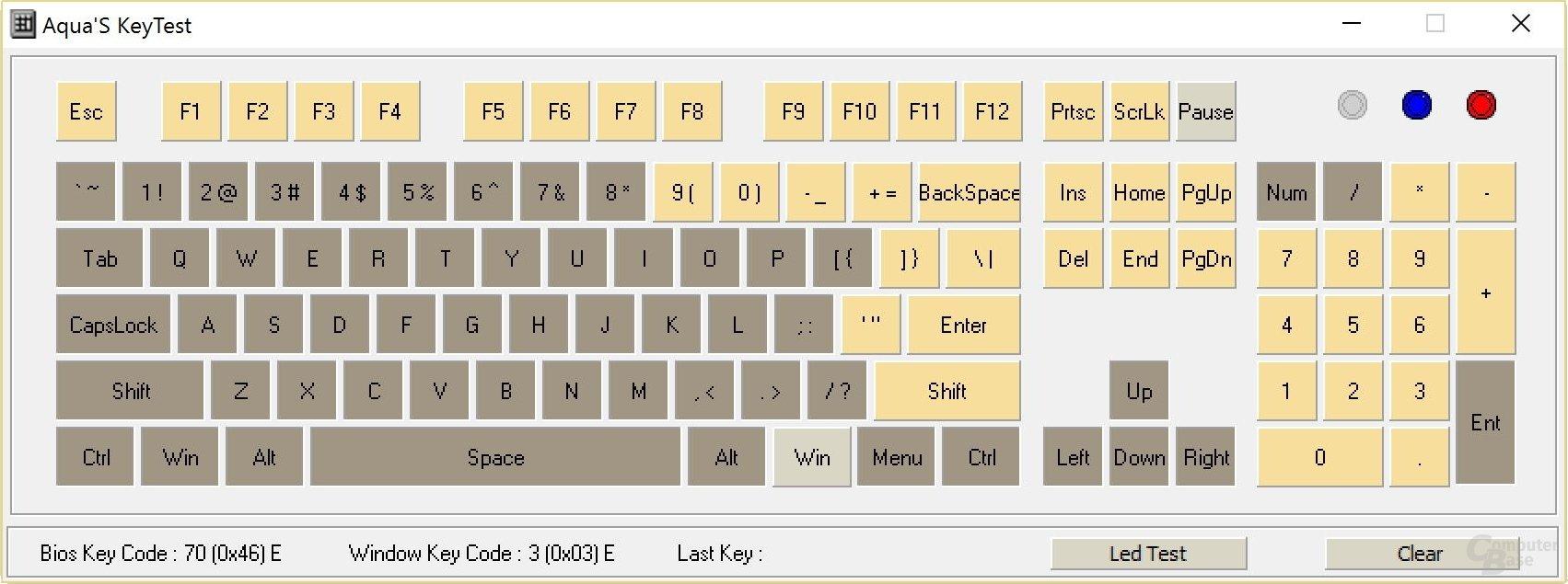 Volles N-Key-Rollover erreicht die MK80 nicht