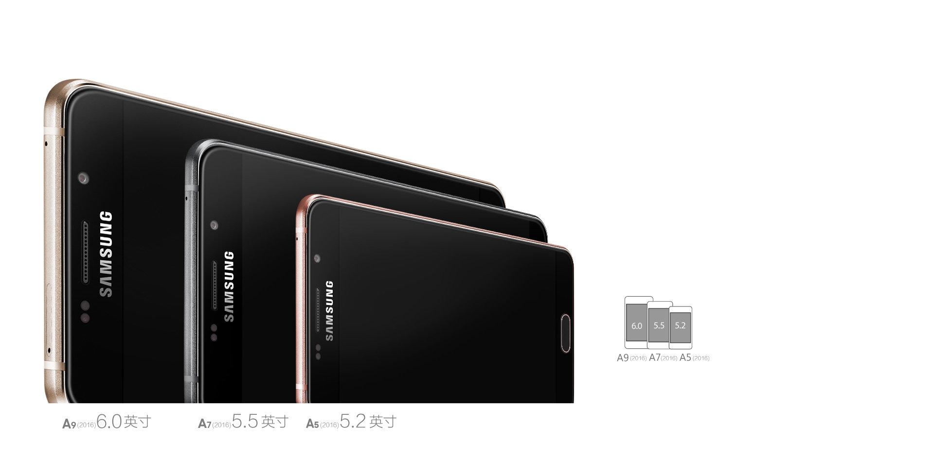 Samsung Galaxy A9, A5 und A3 (2016 Edition)