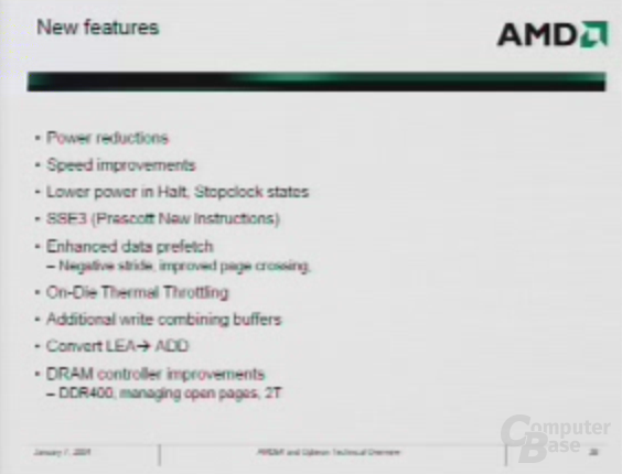 Athlon 64 - New Features