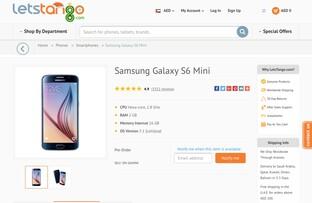 Samsung Galaxy S6 Mini auf LetsTango.com