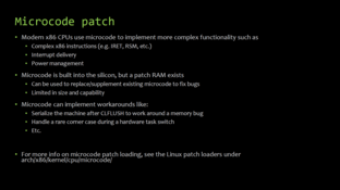 Microcode Patch