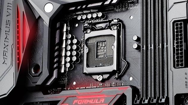 Asus ROG Maximus VIII Formula: Skylake-Mainboard mit Hybridkühler und Licht
