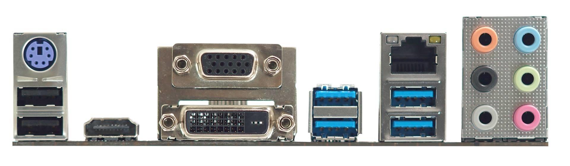 Biostar B150GT5 – das I/O-Panel