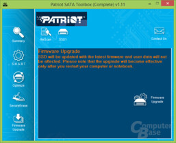 Patriot-Toolbox: Firmware-Upgrade
