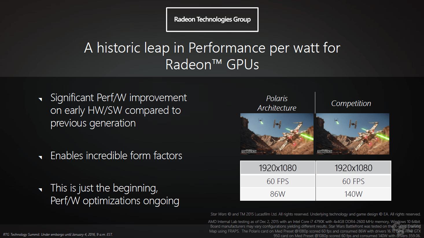 AMD Polaris soll Energieeffizienz deutlich verbessern