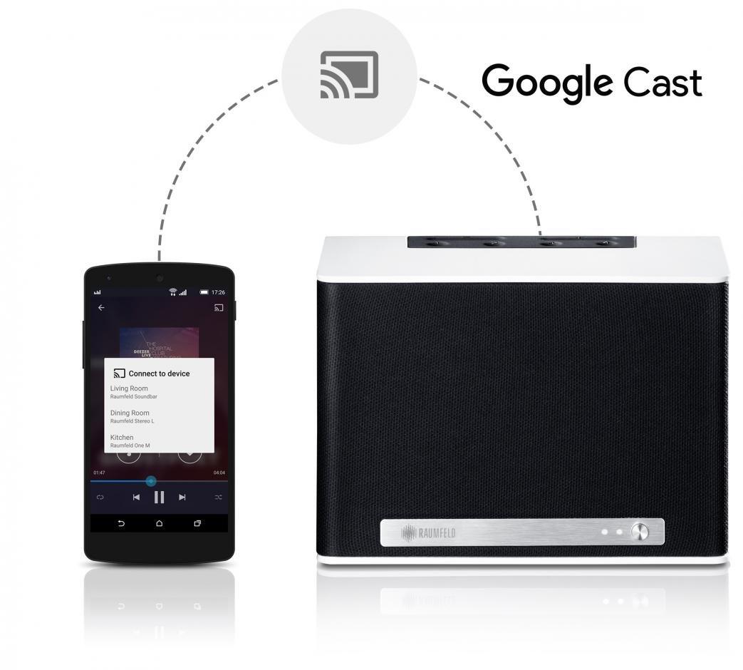 Raumfeld unterstützt bald auch Google Cast for audio