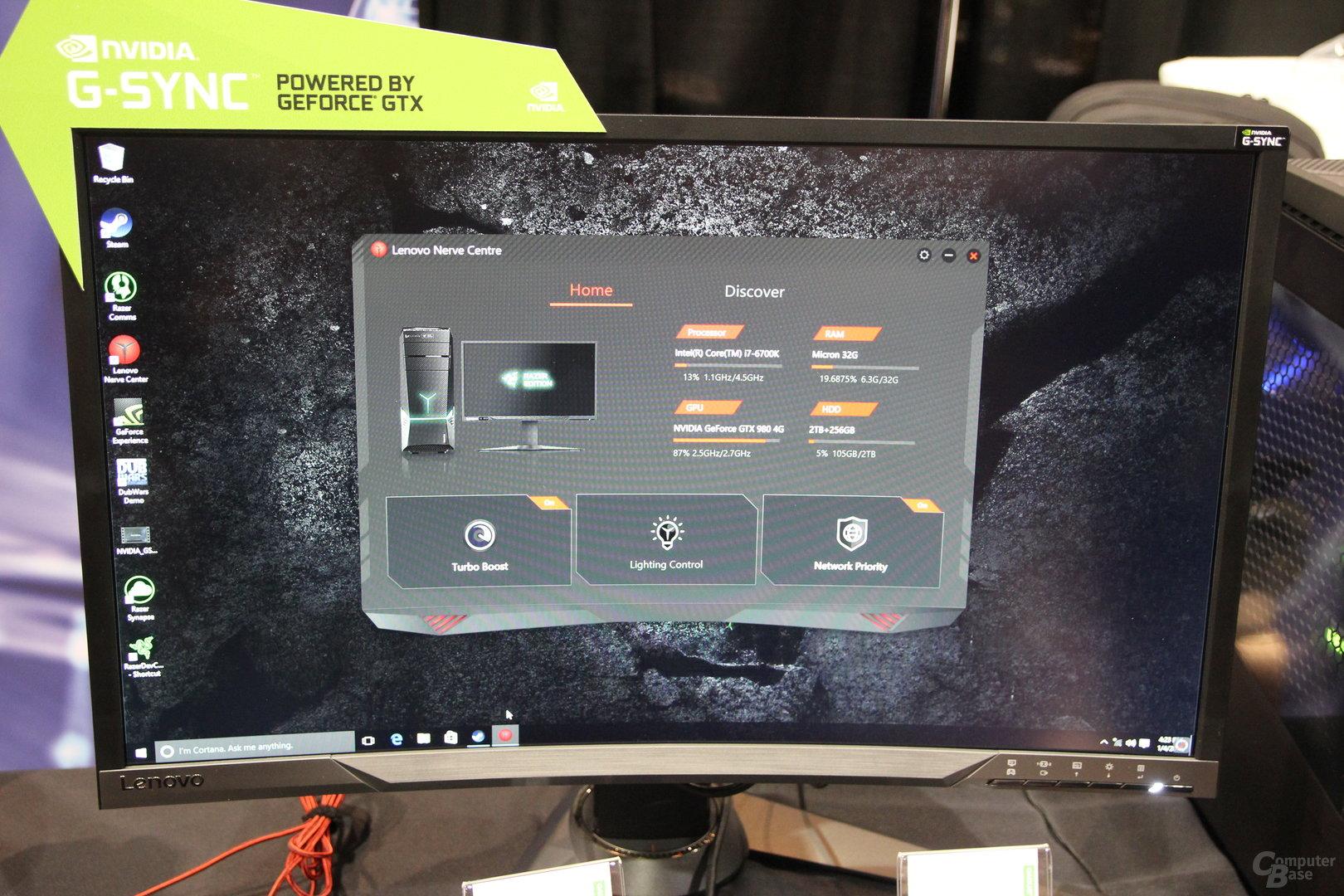 Lenovo: G-Sync-Monitor in Razer Edition