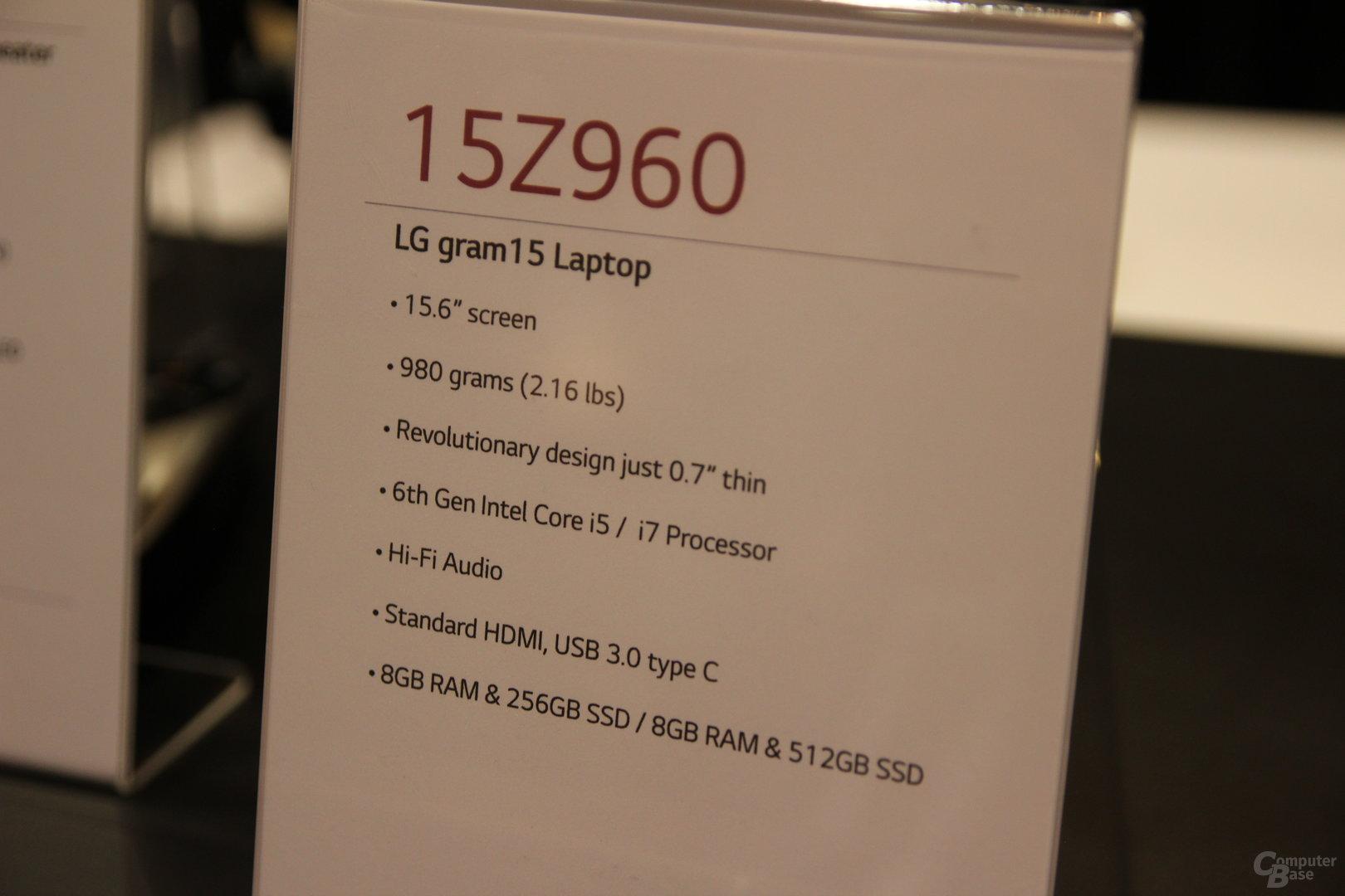 LG 15Z960