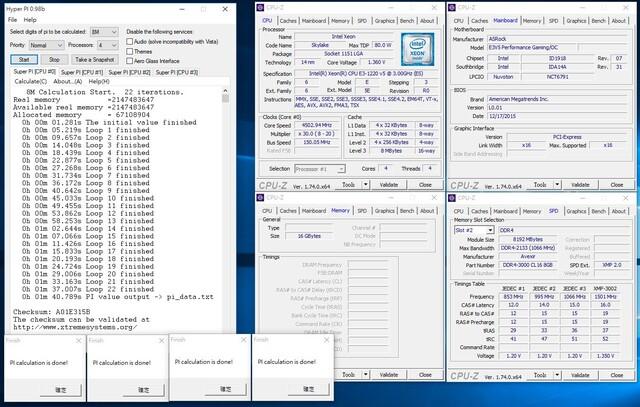 Xeon E3-1220 v5 auf 4,5 GHz übertaktet