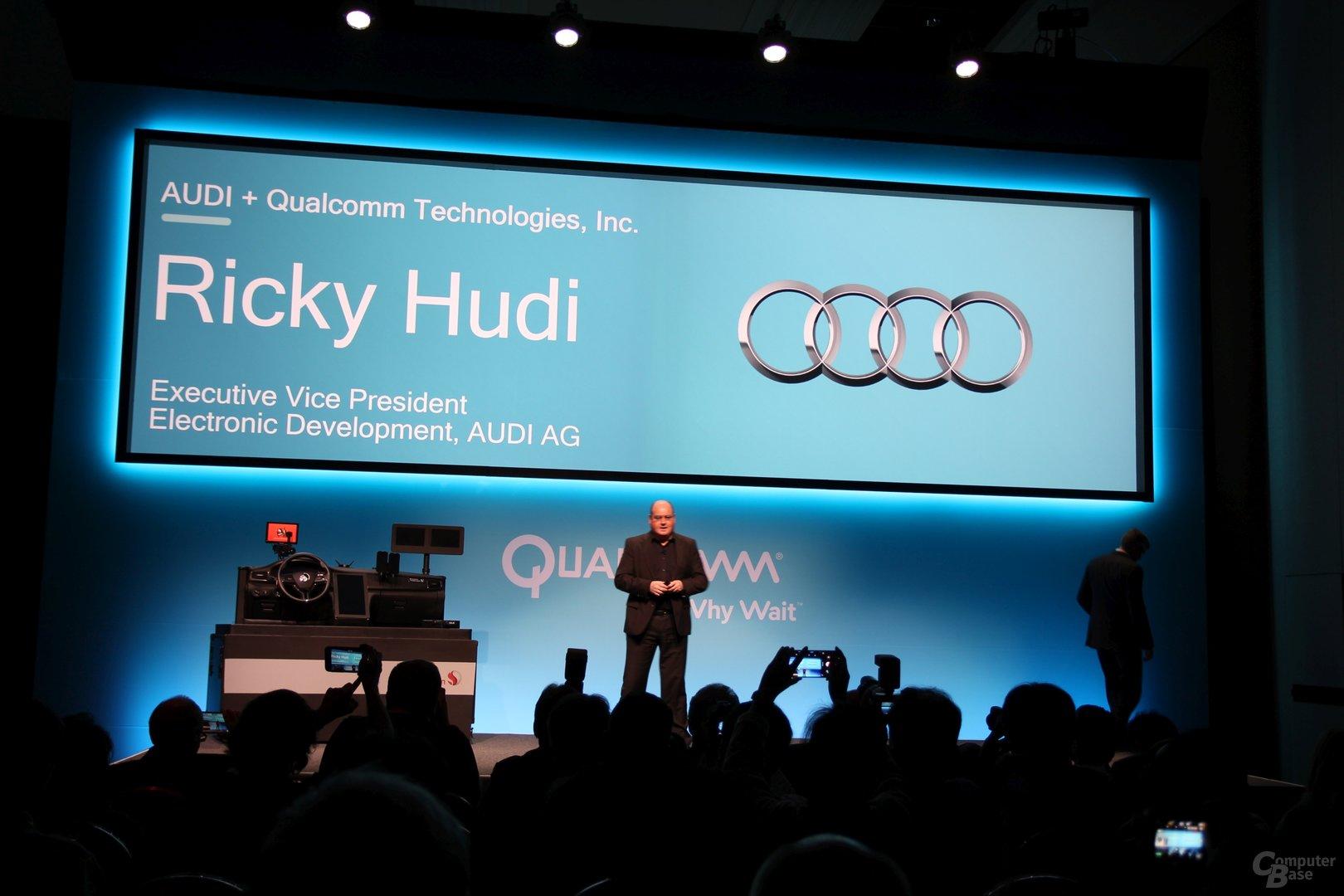 Ricky Hudi von Audi präsentiert die Partnerschaft