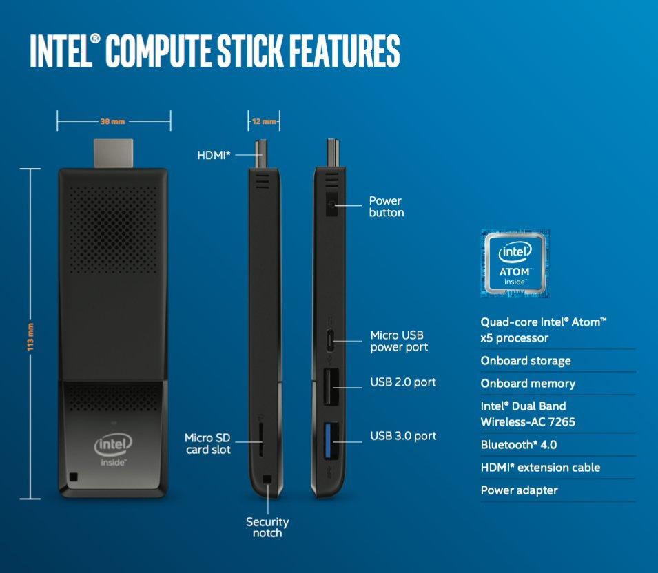 Der neue Intel Compute Stick mit Atom x5-Z8300