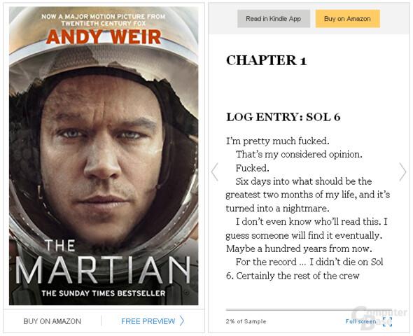 Kindle Instant Book Preview – Buchvorschau für die eigenen Webseite