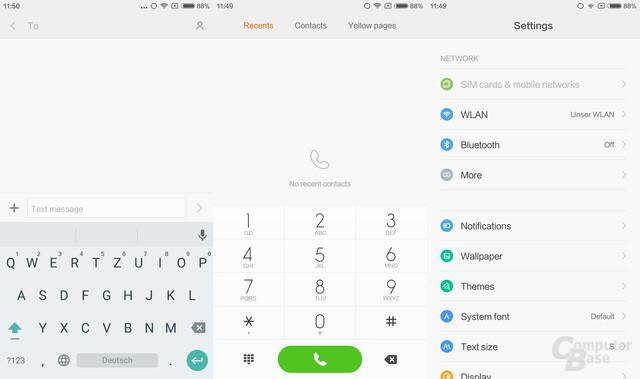 Tastatur|Telefon|Einstellungen