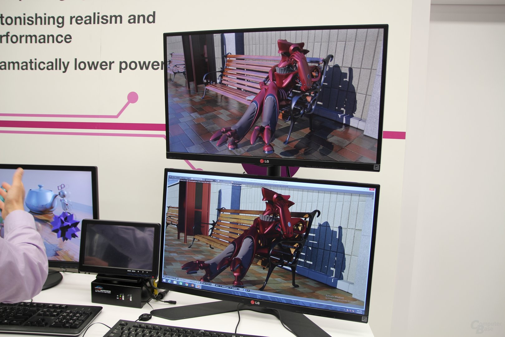 Demo der GPU neben Desktop-GPU