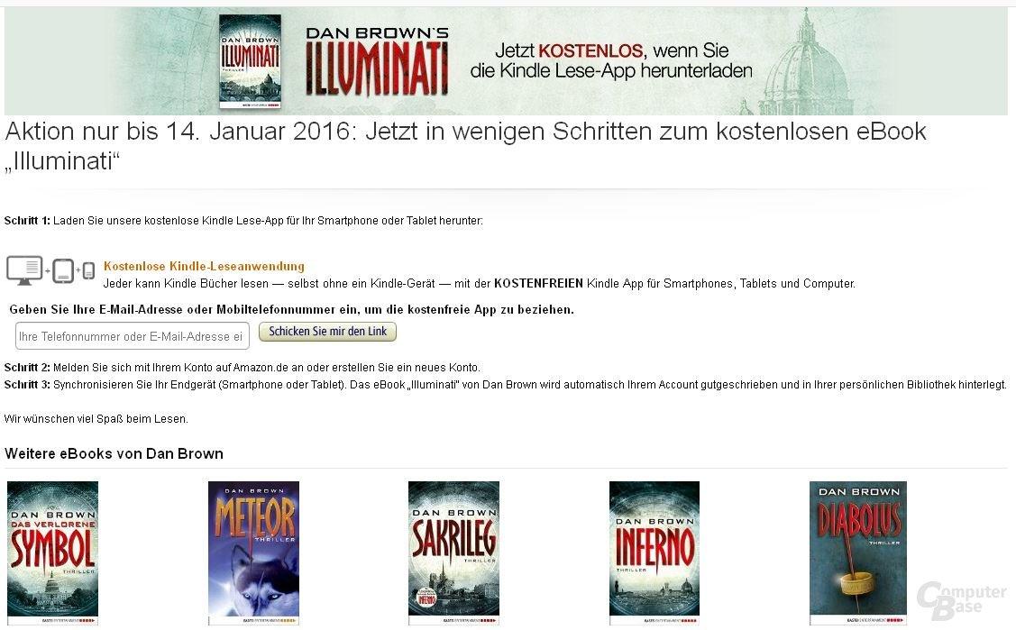 """""""Illuminati"""" von Dan Brown für Erstnutzer der Kindle Lese-App aktuell kostenlos"""