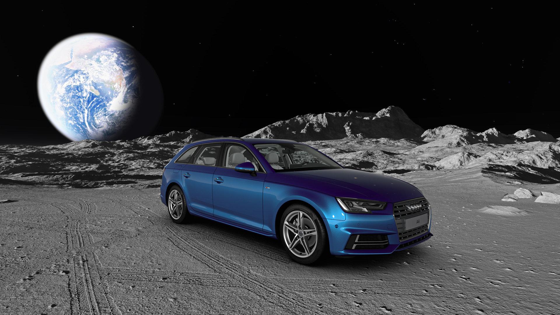 Audi A4 auf dem Mond