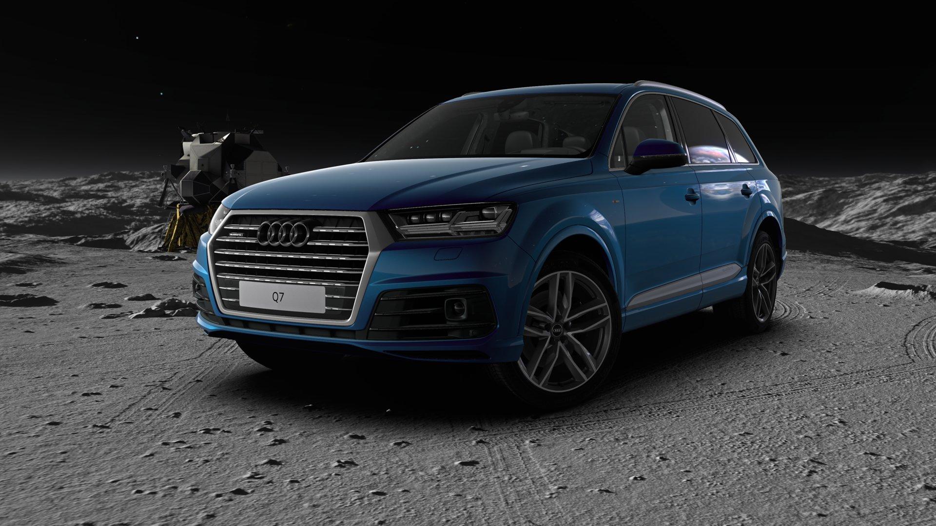 Audi Q7 auf dem Mond