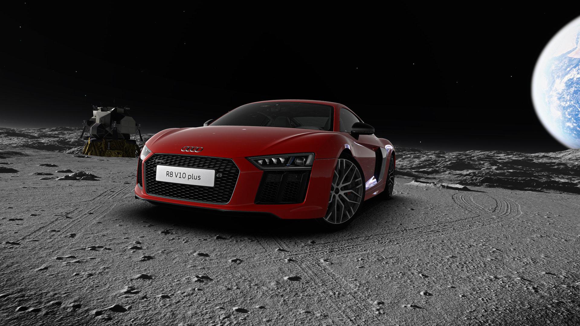 Audi R8 auf dem Mond