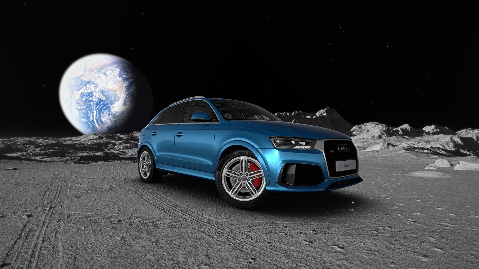 Audi RS Q3 auf dem Mond
