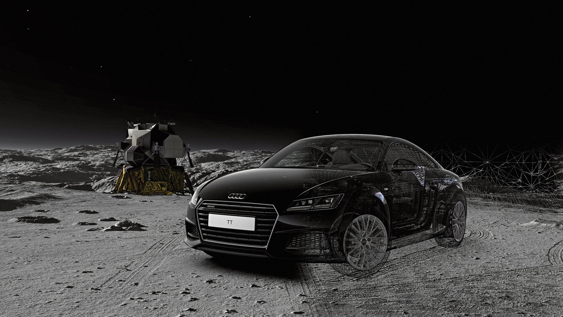 Audi TT auf dem Mond