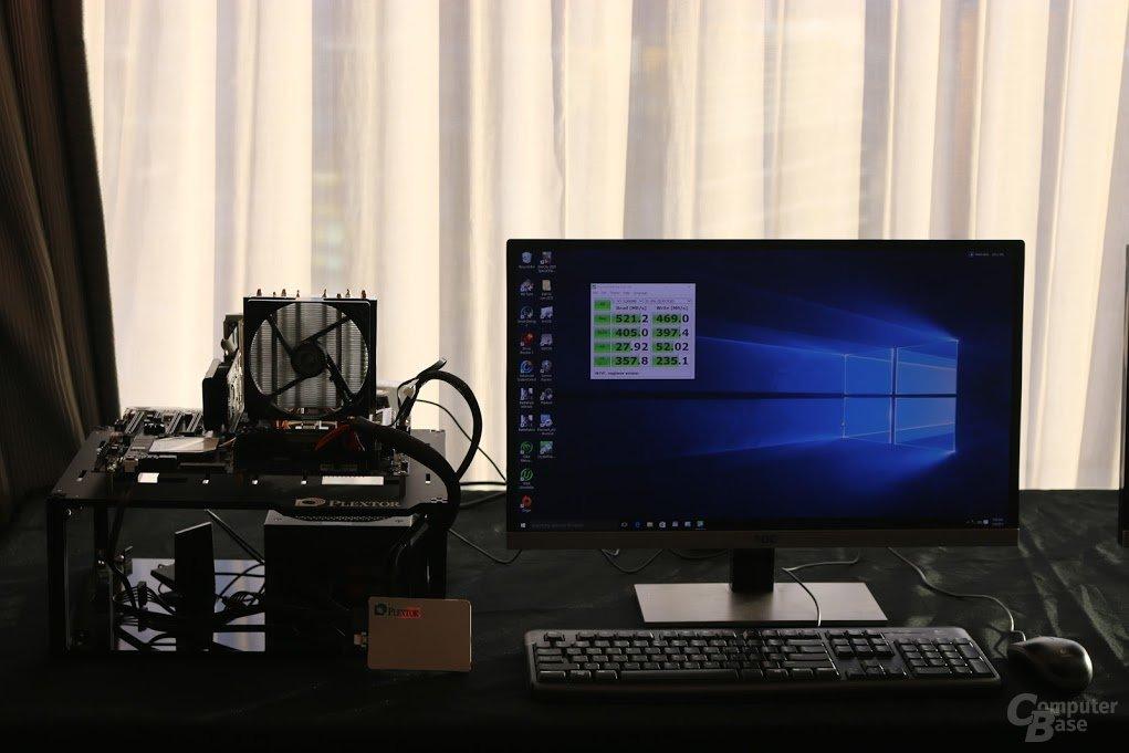 Demosystem mit Plextor M7V