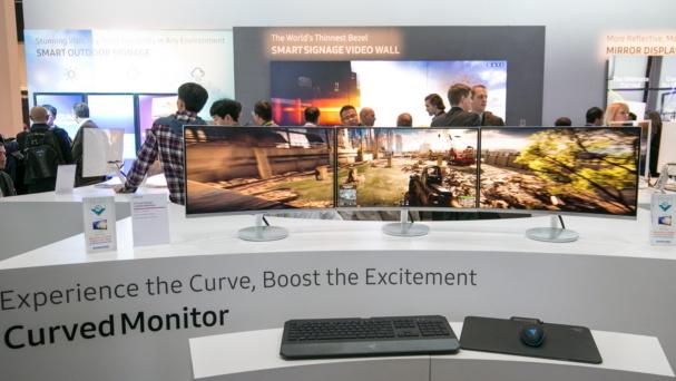 Curved-Monitore: Samsungs CF-Serie mit 1,8 m Radius und FreeSync