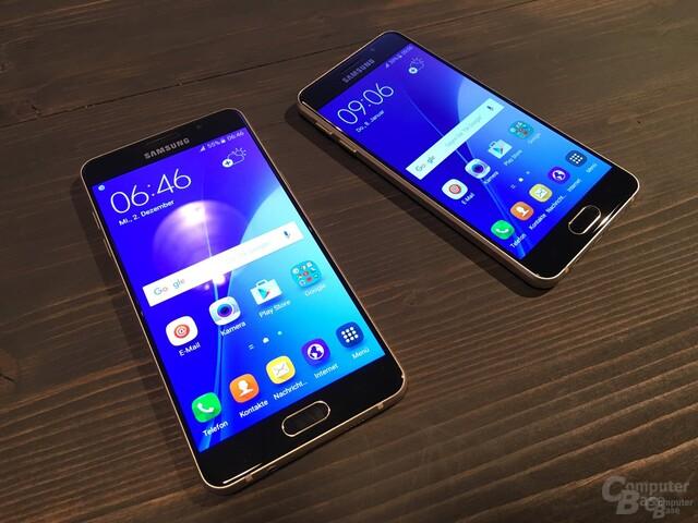 Mittelklasse-Smartphone mit Metallrahmen und Glasrückseite: Samsung Galaxy A3 und A5