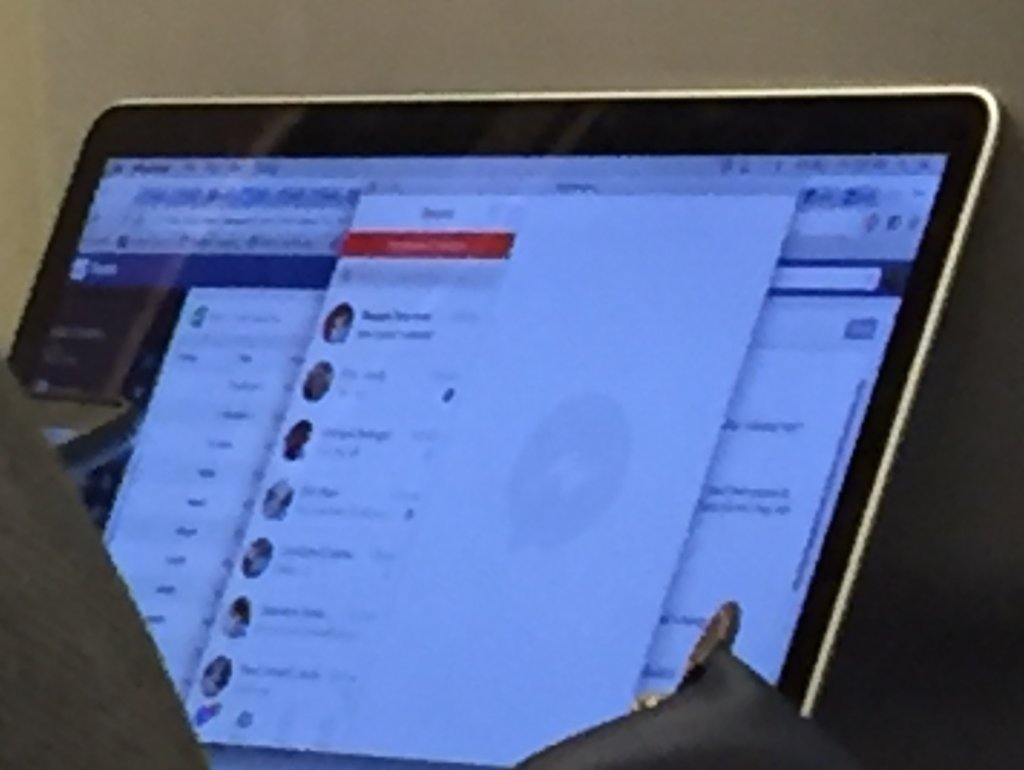 Foto der mutmaßlichen Mac-App des Facebook Messengers