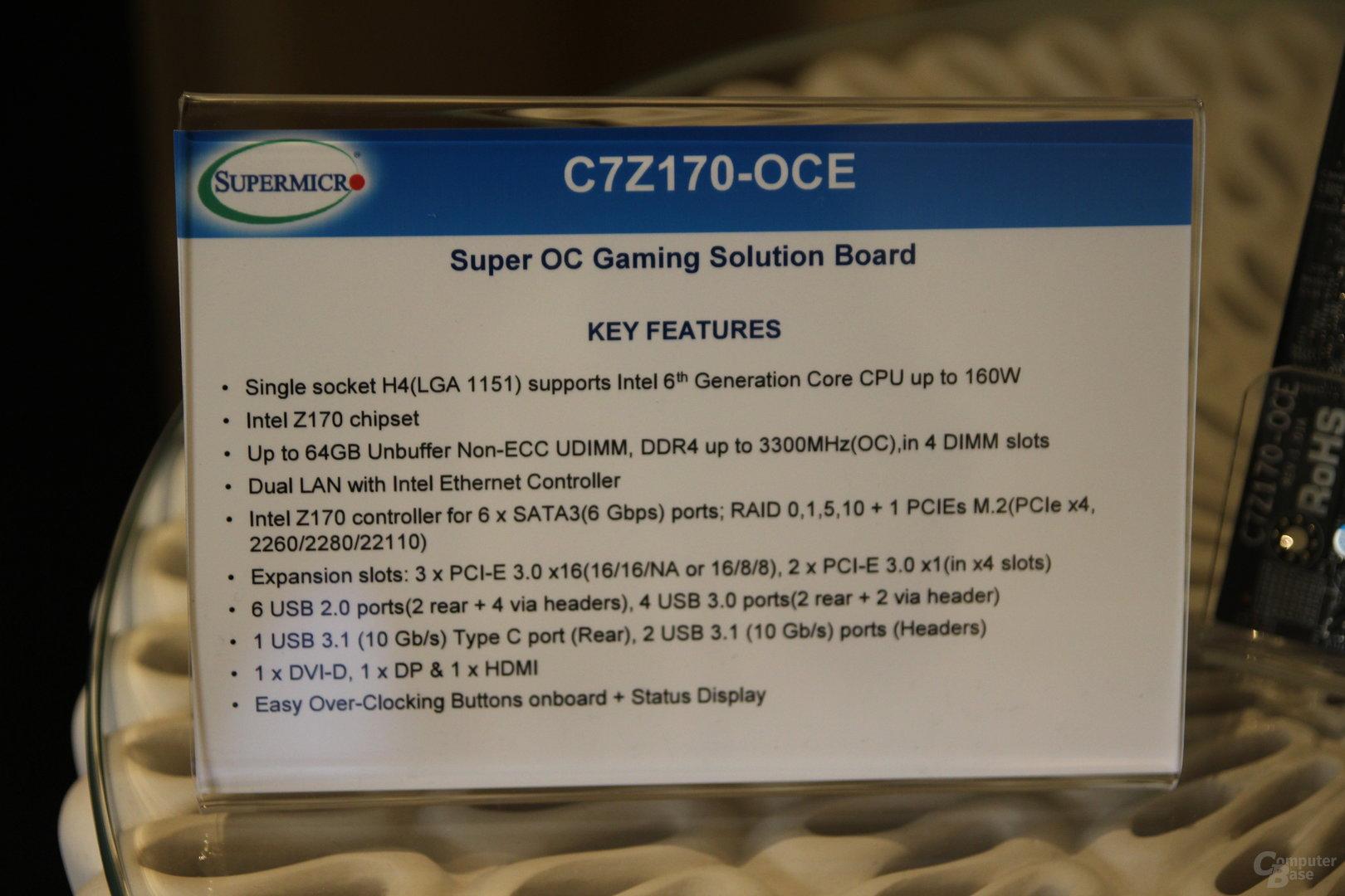Supermicro C7Z170-OCE